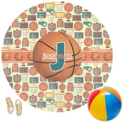 Basketball Round Beach Towel (Personalized)