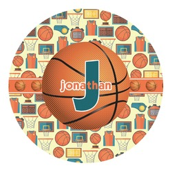 Basketball Round Decal (Personalized)