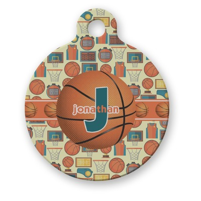 Basketball Round Pet Tag (Personalized)