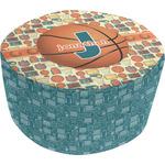 Basketball Round Pouf Ottoman (Personalized)
