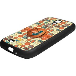 Basketball Rubber Samsung Galaxy 4 Phone Case (Personalized)