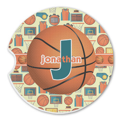 Basketball Sandstone Car Coasters (Personalized)