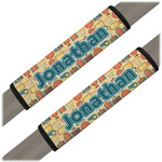 Basketball Seat Belt Covers (Set of 2) (Personalized)