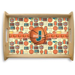 Basketball Natural Wooden Tray (Personalized)