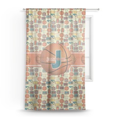 Basketball Sheer Curtains (Personalized)