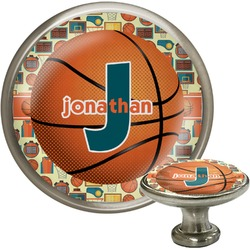 Basketball Cabinet Knob (Silver) (Personalized)