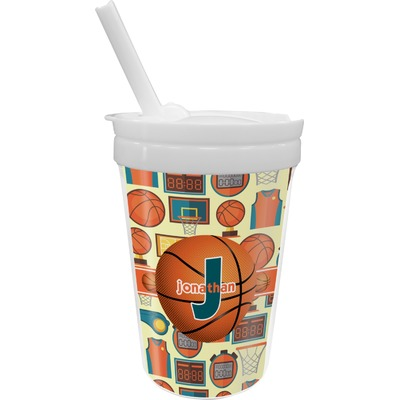 Basketball Sippy Cup with Straw (Personalized)