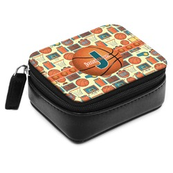 Basketball Small Leatherette Travel Pill Case (Personalized)