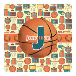 Basketball Square Decal (Personalized)