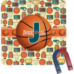 Basketball Square Fridge Magnet (Personalized)