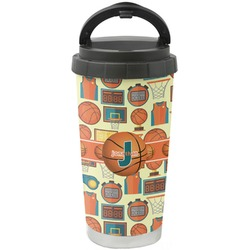 Basketball Stainless Steel Travel Mug (Personalized)