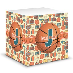 Basketball Sticky Note Cube (Personalized)