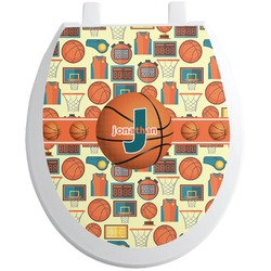 Basketball Toilet Seat Decal (Personalized)
