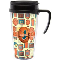 Basketball Travel Mug with Handle (Personalized)
