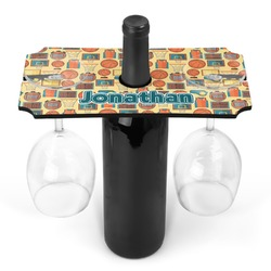 Basketball Wine Bottle & Glass Holder (Personalized)