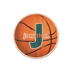 Basketball Genuine Maple or Cherry Wood Sticker (Personalized)