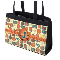 Basketball Zippered Everyday Tote (Personalized)