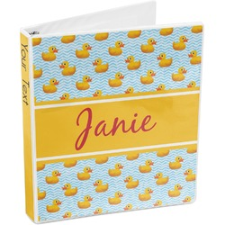 Rubber Duckie 3-Ring Binder (Personalized)