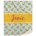 Rubber Duckie Sherpa Throw Blanket (Personalized)