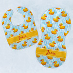 Rubber Duckie Baby Bib & Burp Set w/ Name or Text