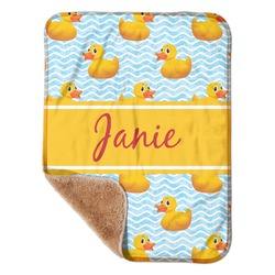 "Rubber Duckie Sherpa Baby Blanket 30"" x 40"" (Personalized)"