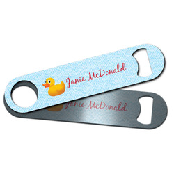 Rubber Duckie Bar Bottle Opener w/ Name or Text