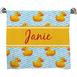 Rubber Duckie Full Print Bath Towel (Personalized)