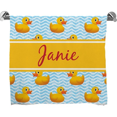 Rubber Duckie Bath Towel (Personalized)