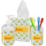 Rubber Duckie Acrylic Bathroom Accessories Set w/ Name or Text