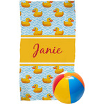 Rubber Duckie Beach Towel (Personalized)