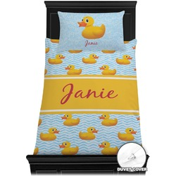 Rubber Duckie Duvet Cover Set - Toddler (Personalized)