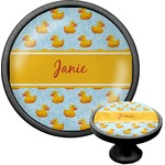 Rubber Duckie Cabinet Knob (Black) (Personalized)
