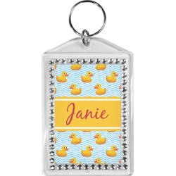 Rubber Duckie Bling Keychain (Personalized)
