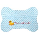 Rubber Duckie Bone Shaped Dog Food Mat (Personalized)