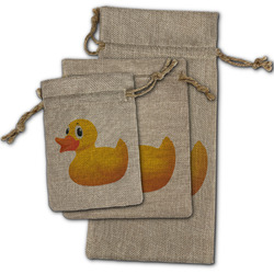 Rubber Duckie Burlap Gift Bags (Personalized)