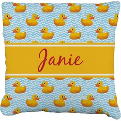 """Rubber Duckie Faux-Linen Throw Pillow 26"""" (Personalized)"""