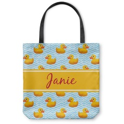 "Rubber Duckie Canvas Tote Bag - Small - 13""x13"" (Personalized)"