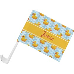 Rubber Duckie Car Flag (Personalized)