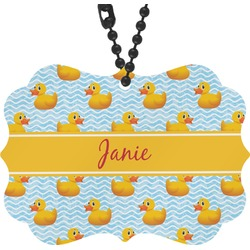 Rubber Duckie Rear View Mirror Charm (Personalized)