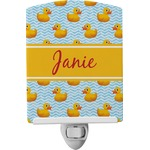 Rubber Duckie Ceramic Night Light (Personalized)