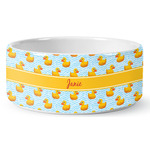 Rubber Duckie Ceramic Dog Bowl (Personalized)
