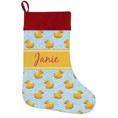 Rubber Duckie Holiday / Christmas Stocking (Personalized)