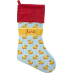 Rubber Duckie Christmas Stocking (Personalized)