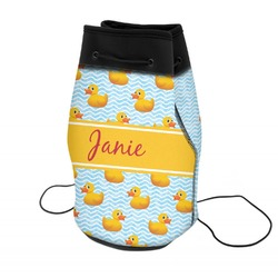 Rubber Duckie Neoprene Drawstring Backpack (Personalized)