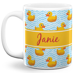 Rubber Duckie 11 Oz Coffee Mug - White (Personalized)