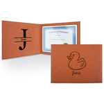 Rubber Duckie Leatherette Certificate Holder (Personalized)