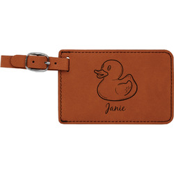 Rubber Duckie Leatherette Luggage Tag (Personalized)