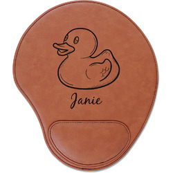 Rubber Duckie Leatherette Mouse Pad with Wrist Support (Personalized)