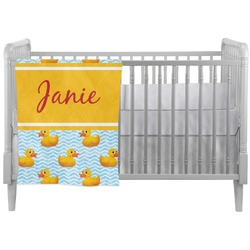 Rubber Duckie Crib Comforter / Quilt (Personalized)