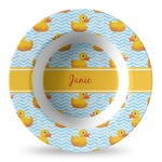 Rubber Duckie Plastic Bowl - Microwave Safe - Composite Polymer (Personalized)